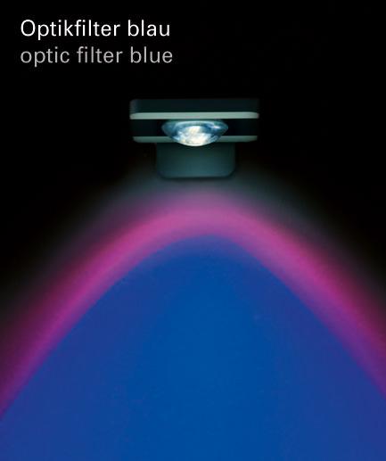 Optikfilter blau