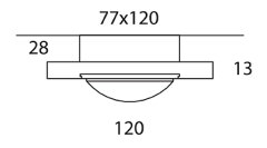 ONYXX.LED – BASE 3 – Deckenleuchte - Strichzeichnung mit Bemaßung