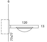 ONYXX.LED – DUAL 1 – Wandleuchte - Strichzeichnung mit Bemaßung