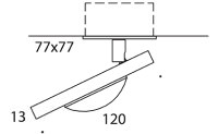 ONYXX.LED – MOVE 1 – Deckenleuchte - Strichzeichnung mit Bemaßung