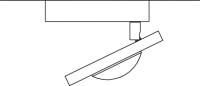 ONYXX.LED – MOVEX – Deckenaufbauleuchte - Strichzeichnung mit Bemaßung