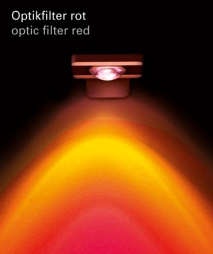 Optikfilter rot