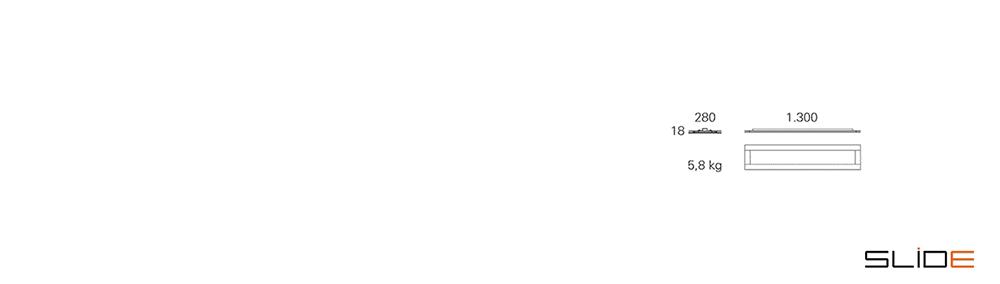 Strichzeichnung SLIDE_Office – BASE LED 1300 – Deckenleuchten