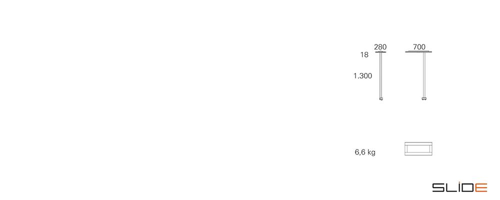 Strichzeichnung SLIDE_Office – LED – Tischleuchte