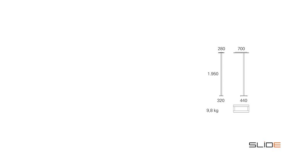 Strichzeichnung SLIDE_Office – LED – Stehleuchte