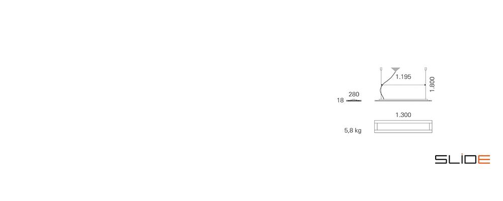 Strichzeichnung SLIDE_Office – LED – Deckenleuchten